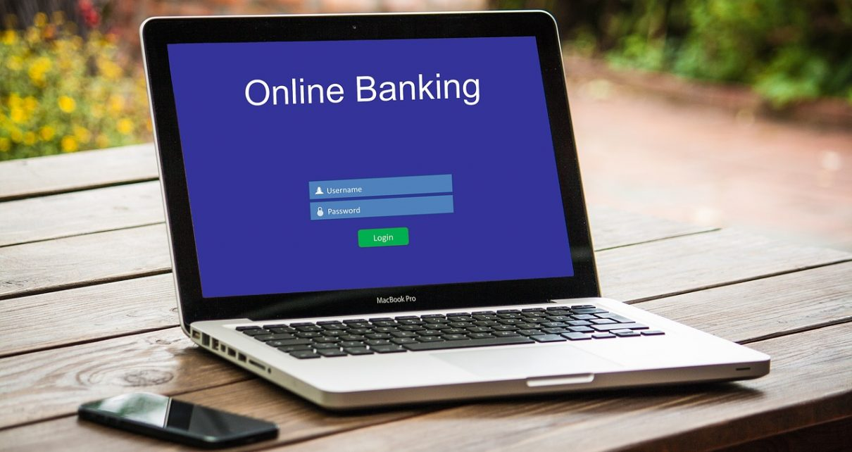 Online Banking on Laptop