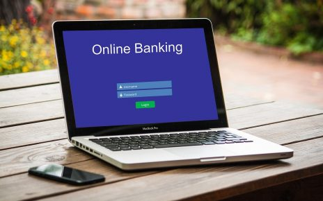 Online Banking on Laptop