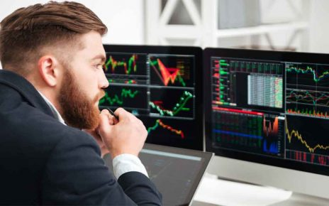 A trader watching futures vs Forex charts
