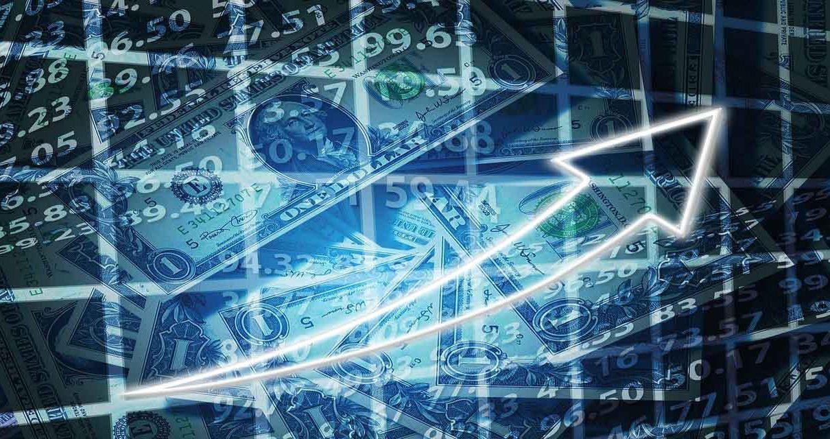 Positive Stocks Trading, Money Graph